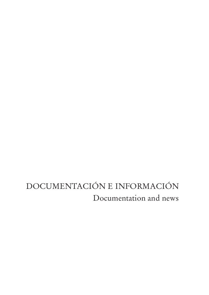 DOCUMENTACIÓN E INFORMACIÓN           Documentation and news