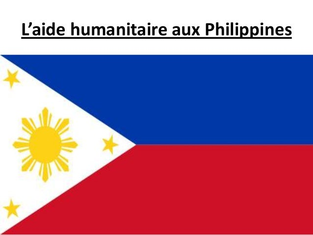 L'aide humanitaire aux Philippines