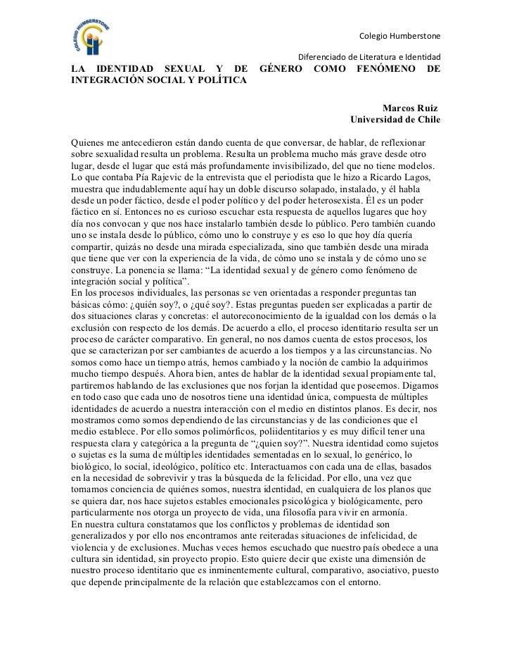 Colegio Humberstone                                                         Diferenciado de Literatura e IdentidadLA IDENT...