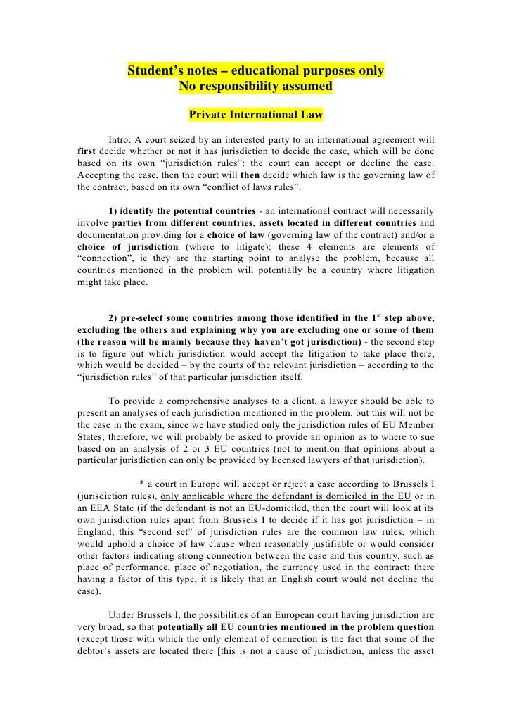 International law summary notes