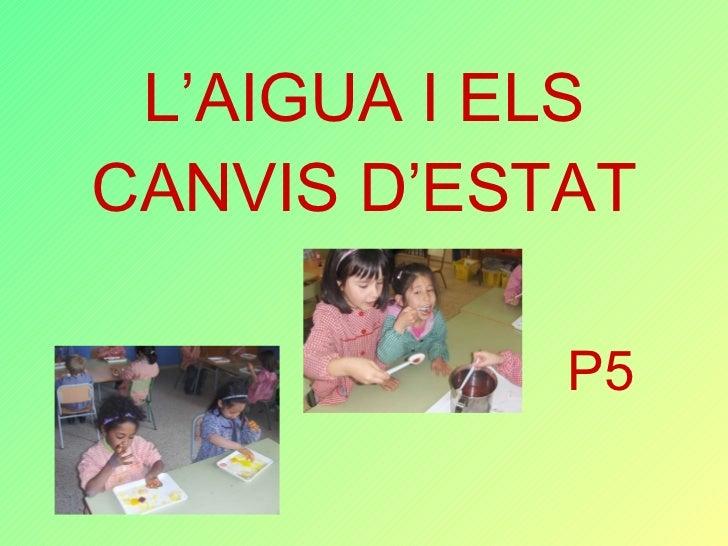 L'AIGUA I ELS CANVIS D'ESTAT P5