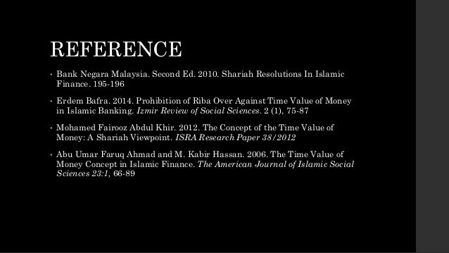 """time value of money from islamic A critique of interest: debunking time value of money and other arguments this idea is called the """"time value of money"""" economic and islamic affairs."""