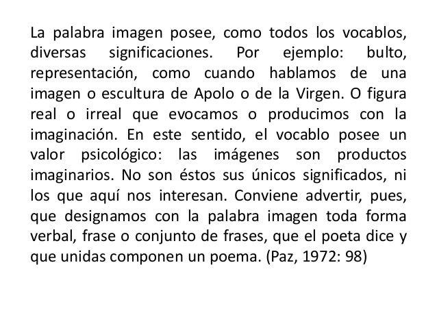 La palabra imagen posee, como todos los vocablos, diversas significaciones. Por ejemplo: bulto, representación, como cuand...