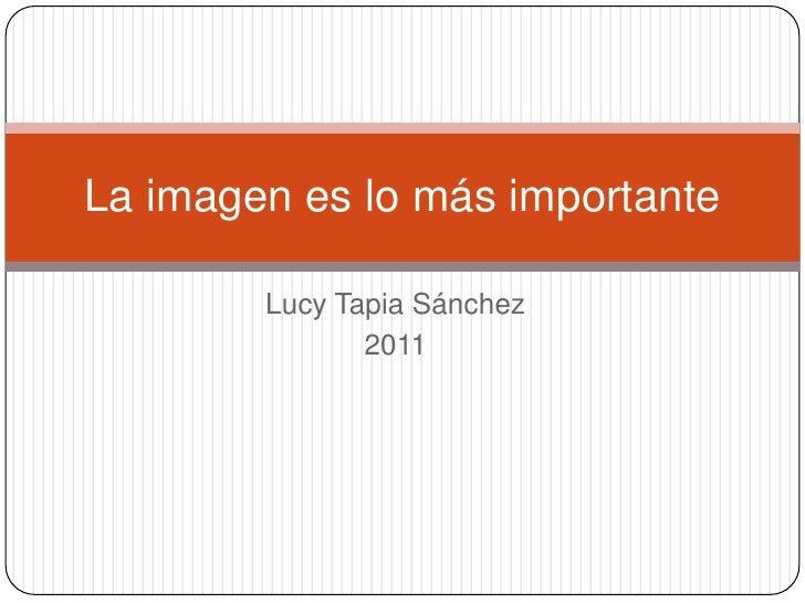 La imagen es lo más importante        Lucy Tapia Sánchez               2011