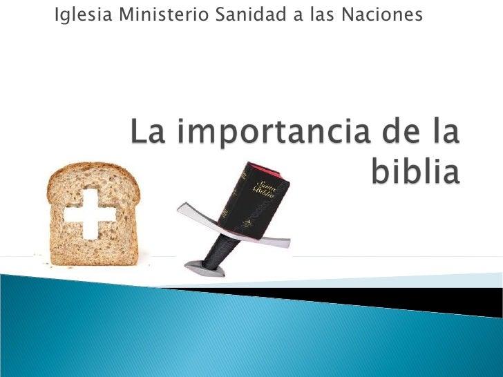 Iglesia Ministerio Sanidad a las Naciones