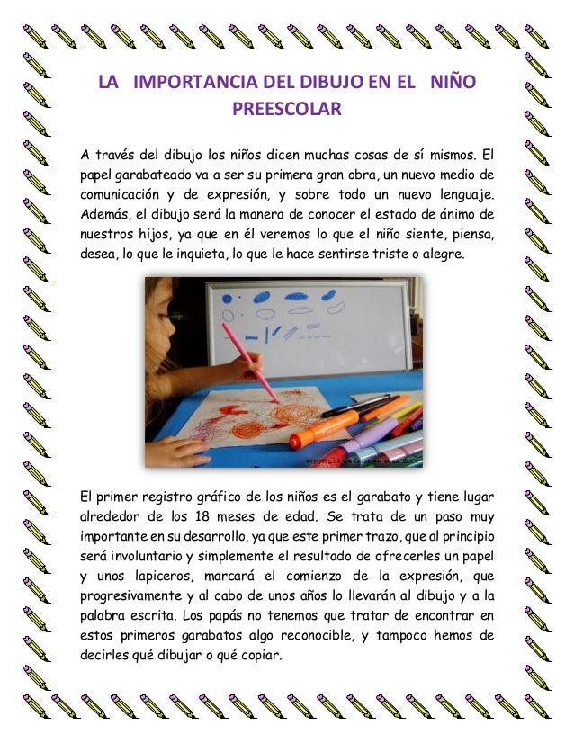 La Importancia Del Dibujo En El Niño Preescolar