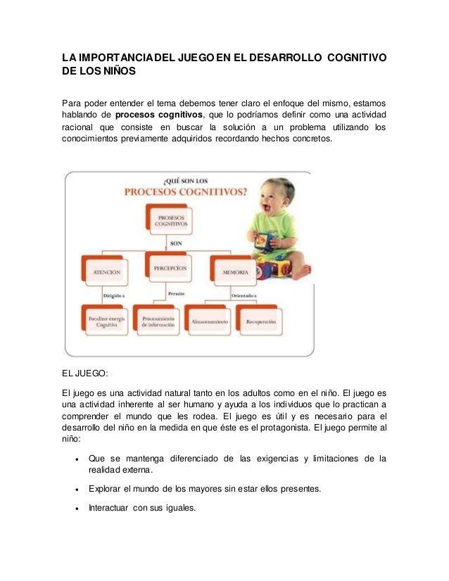 a3602f9b96bf LA IMPORTANCIADEL JUEGO EN EL DESARROLLO COGNITIVO DE LOS NIÑOS Para poder  entender el tema debemos ...