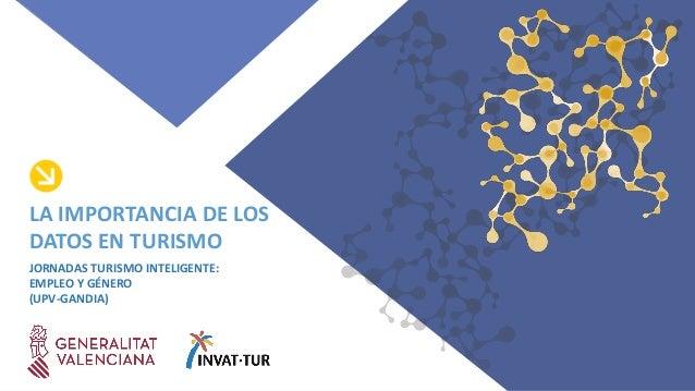 JORNADAS TURISMO INTELIGENTE: EMPLEO Y GÉNERO (UPV-GANDIA) LA IMPORTANCIA DE LOS DATOS EN TURISMO