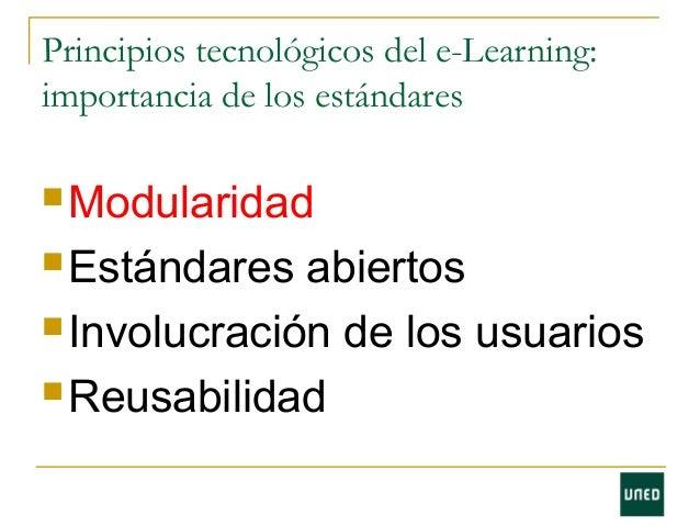 Estándares en e-learning Slide 2