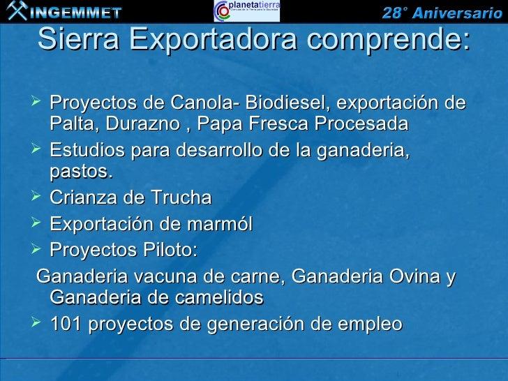 La importancia de los minerales en sierra exportadora for Proyecto de crianza de truchas pdf