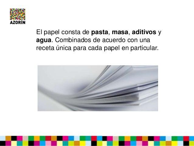 La composición del papel Slide 2