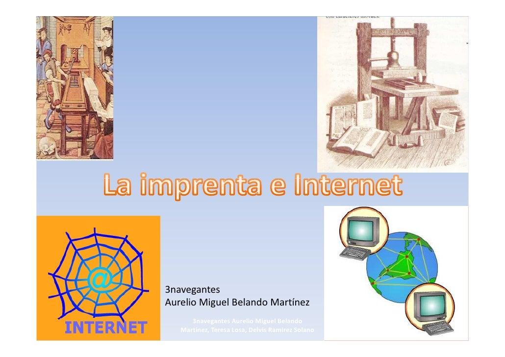 La imprenta e internet
