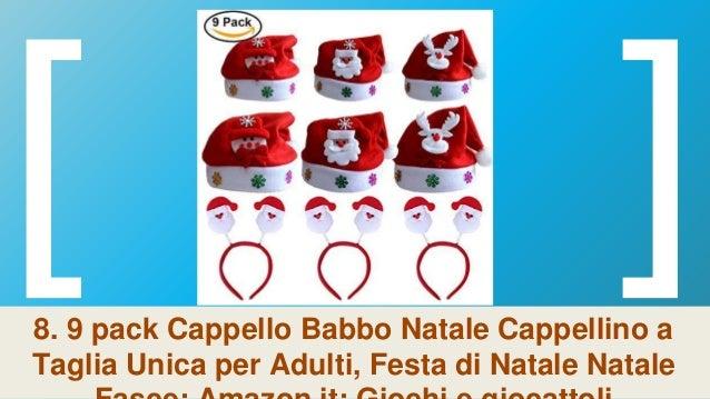 ... ritaglio  16. 8. 9 pack Cappello Babbo Natale Cappellino a Taglia Unica  per Adulti ... b07bf00861ce