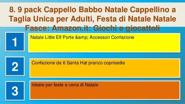 9 pack Cappello Babbo Natale Cappellino a Taglia Unica per Adulti d7d54d5365d7