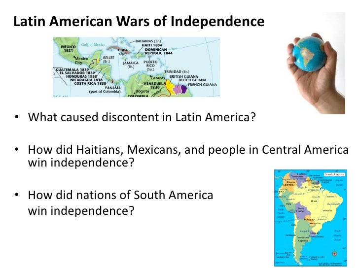 the issues surrounding latin american independence The mexican-american war and mexican immigration to the united states the mexican government initially promoted american settlement in parts of the territory now known as texas in the 1820s to bolster the regional economy.
