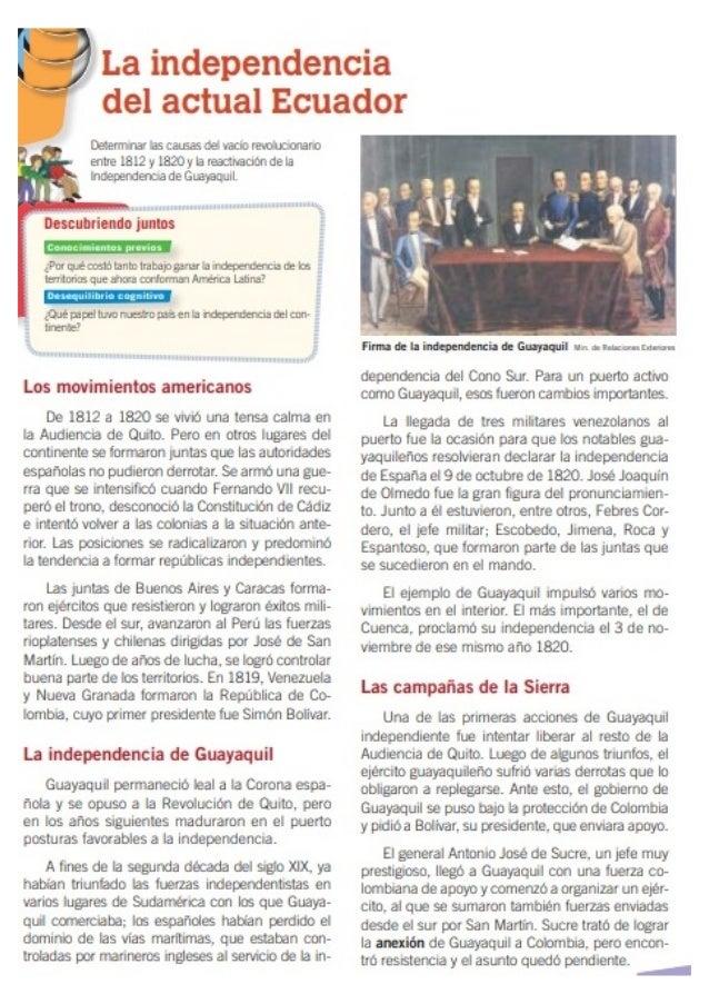 La independencia del actual ecuador