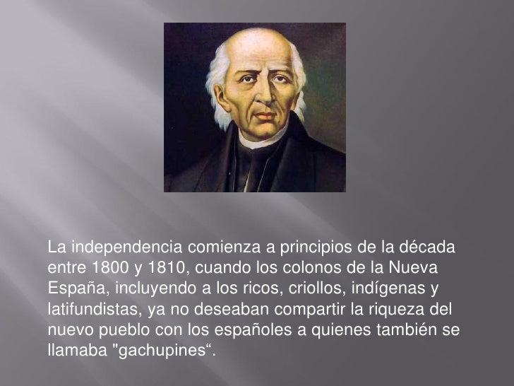 La independencia de mexico Slide 2