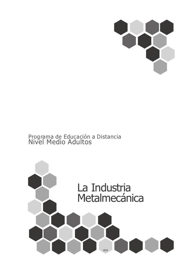 Programa de Educación a Distancia Nivel Medio Adultos La Industria Metalmecánica 205
