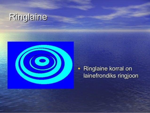 Ringlaine  • Ringlaine korral on  lainefrondiks ringjoon