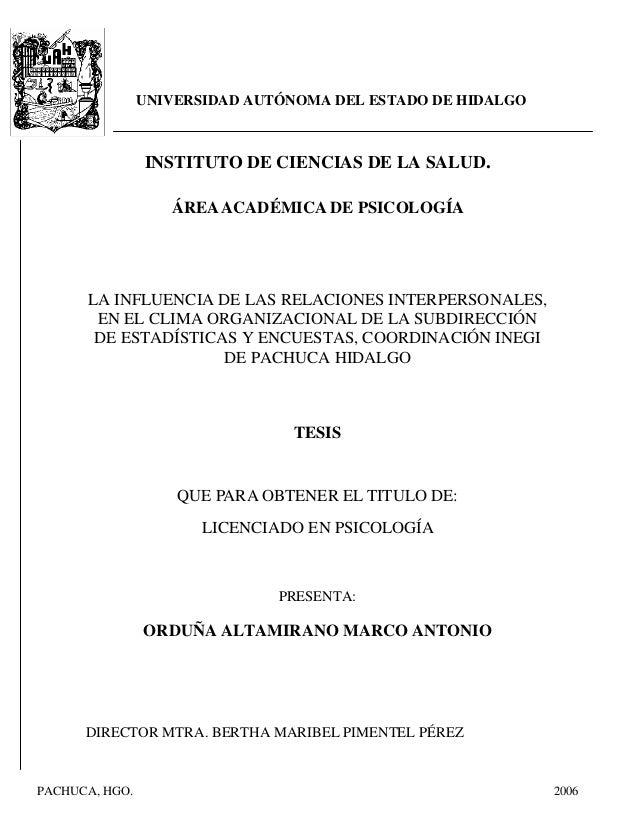 UNIVERSIDAD AUTÓNOMA DEL ESTADO DE HIDALGO INSTITUTO DE CIENCIAS DE LA SALUD. ÁREAACADÉMICA DE PSICOLOGÍA LA INFLUENCIA DE...