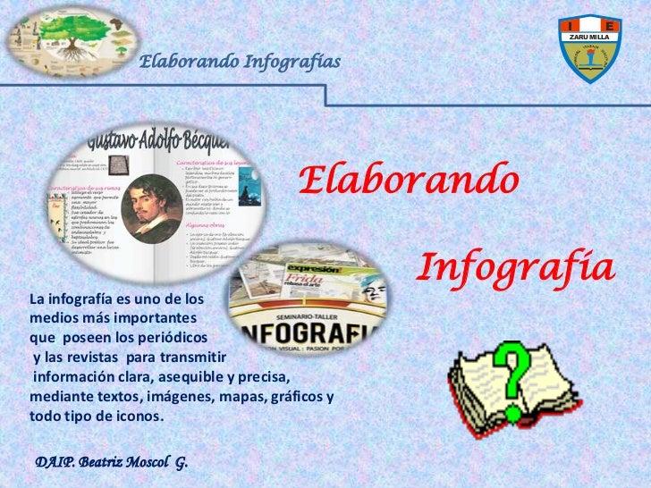 Elaborando Infografías<br />Elaborando<br />          Infografía<br />La infografía es uno de los <br />medios más imp...