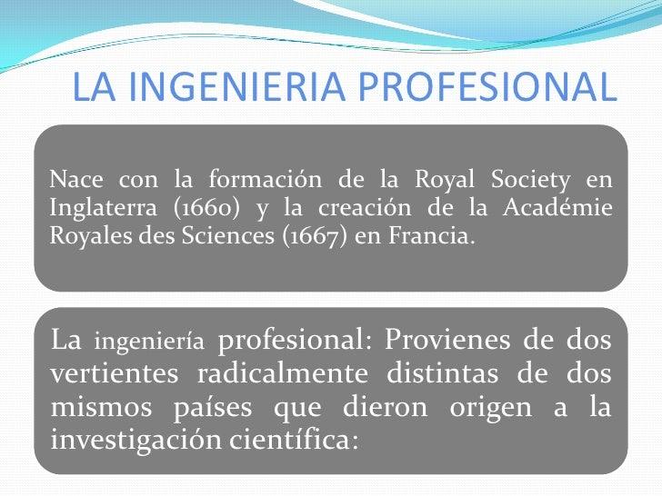 LA INGENIERIA PROFESIONAL<br />