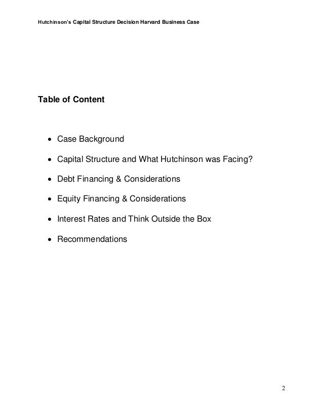 """case study on hutchison whampoa Hutchinson whampoa limited: the capital structure the underlying case was """"hutchison whampoa limited: the capital structure decision"""" hutchison whampoa case."""