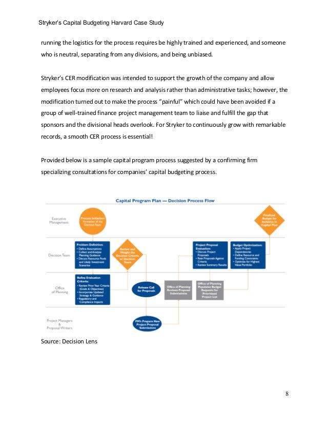 stryker corporation hbs El caso examina algunas partes de los sistemas y procedimientos de stryker corporation para aprobar y autorizar distintos tipos de inversión: en edi.