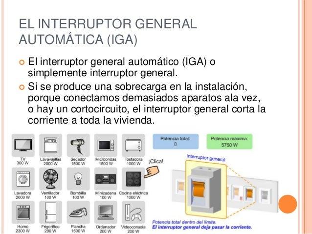 La instalaci n el ctrica de una vivienda - Interruptor general automatico ...