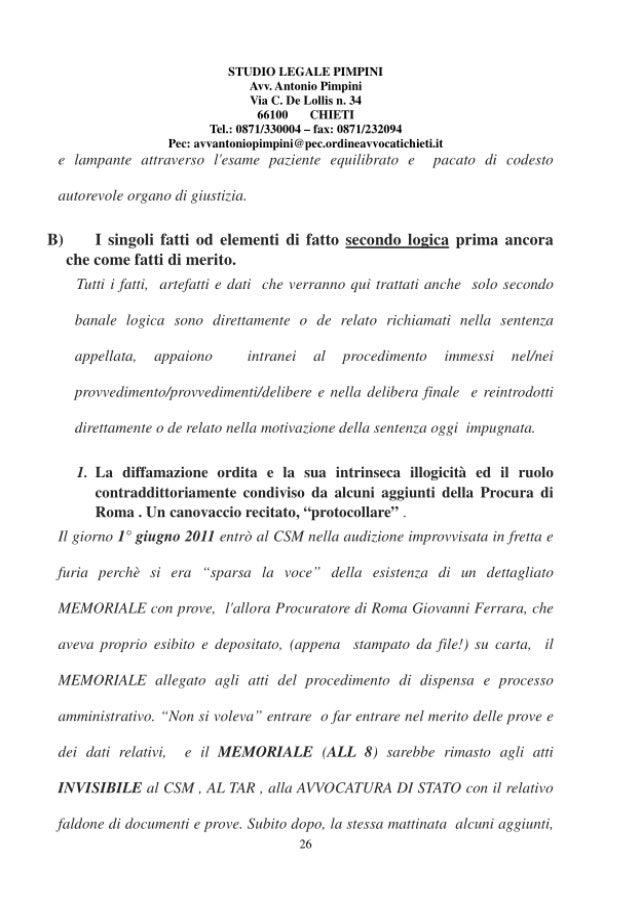 La integrale falsificazione dai capitolo terzo ricorso in Consiglio di Stato
