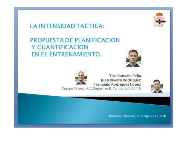 La intensidad tactica @ Tito Ramallo