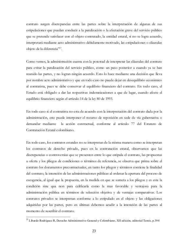 La interpretaci n del contrato en derecho colombiano y for Clausula suelo firma acuerdo privado