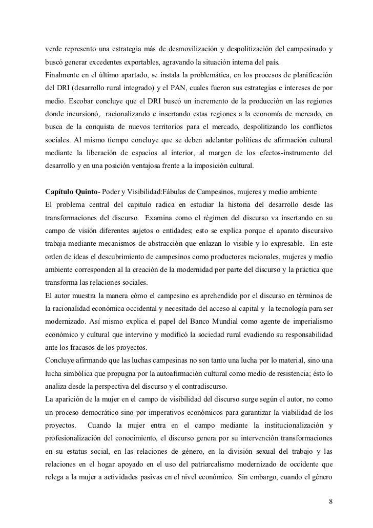 verde represento una estrategia más de desmovilización y despolitización del campesinado ybuscó generar excedentes exporta...