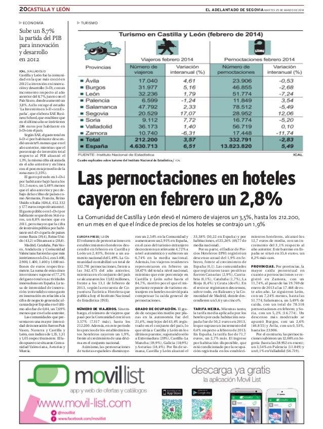 ICAL. /VALLADOLID Castilla y León fue la comuni- dad en la que más creció en 2012 la inversión en innova- ción y desarroll...