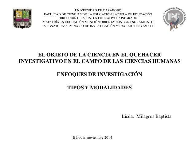 UNIVERSIDAD DE CARABOBO FACULTAD DE CIENCIAS DE LA EDUCACIÓN ESCUELA DE EDUCACIÓN DIRECCIÓN DE ASUNTOS EDUCATIVO-POSTGRADO...