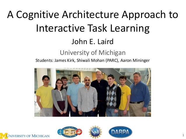 A Cognitive Architecture Approach to Interactive Task Learning John E. Laird University of Michigan 1 Students: James Kirk...