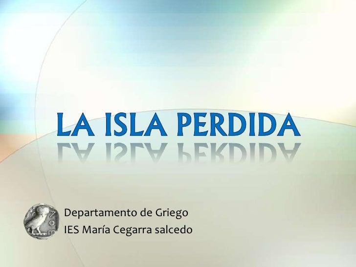 Departamento de GriegoIES María Cegarra salcedo