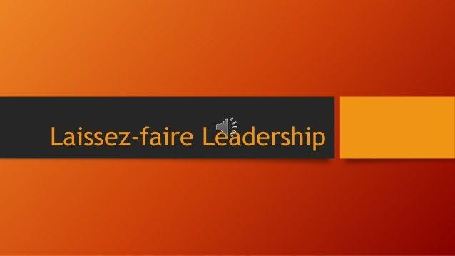 laissez faire leadership