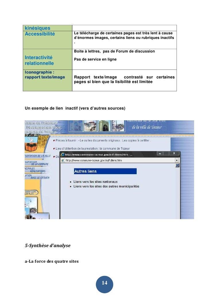 kinésiques Accessibilité           Le télécharge de certaines pages est très lent à cause                         d'énorme...
