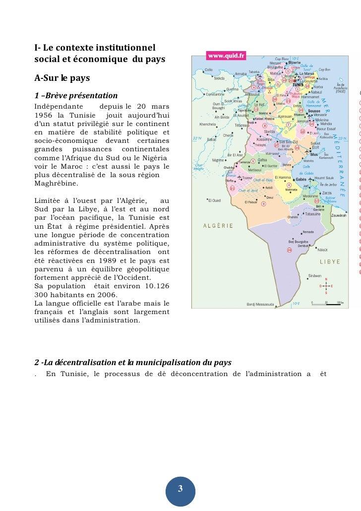I- Le contexte institutionnel social et économique du pays A-Sur le pays 1 –Brève présentation Indépendante       depuis l...