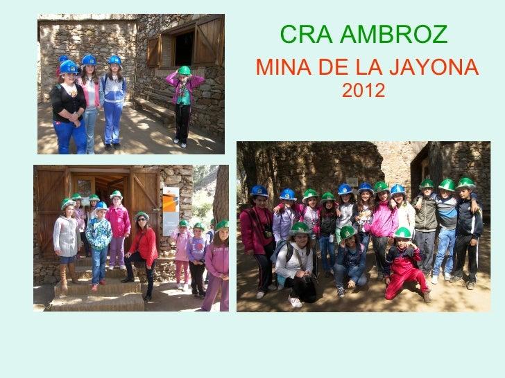 CRA AMBROZMINA DE LA JAYONA      2012