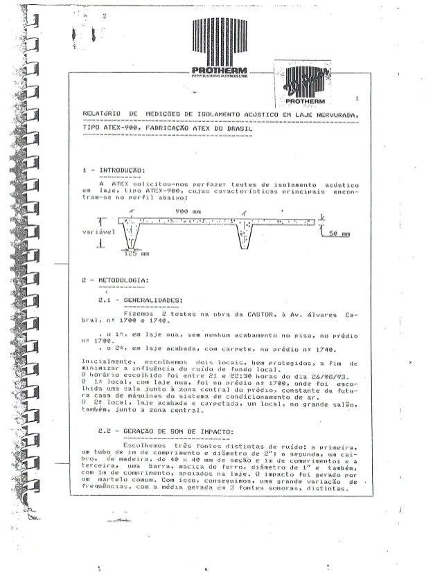 Estudo Acústica em Laje Nervurada Atex - Protherm
