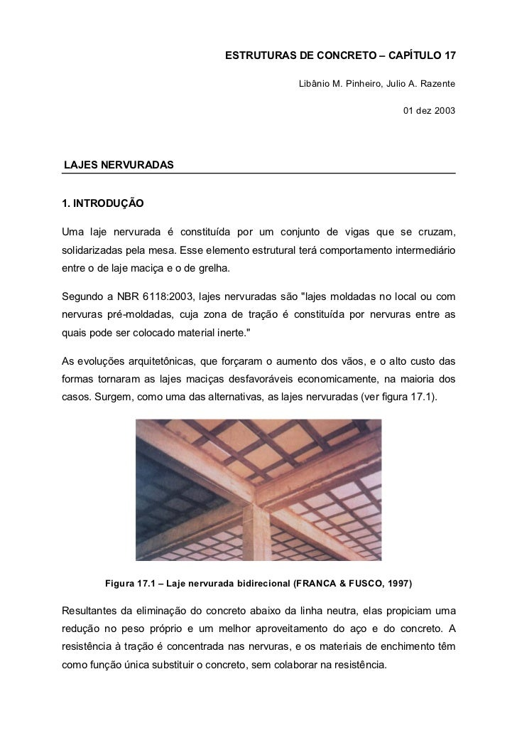 ESTRUTURAS DE CONCRETO – CAPÍTULO 17                                                  Libânio M. Pinheiro, Julio A. Razent...
