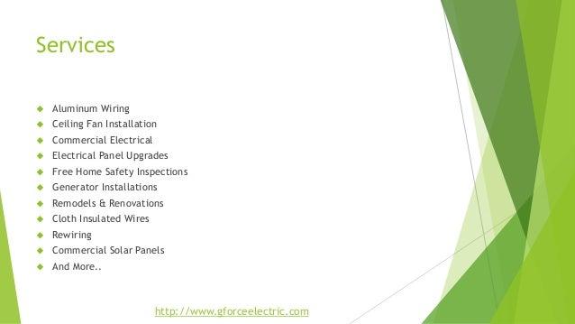 24Hr La jolla Electrician - Gforce Green Electric Solutions Slide 3