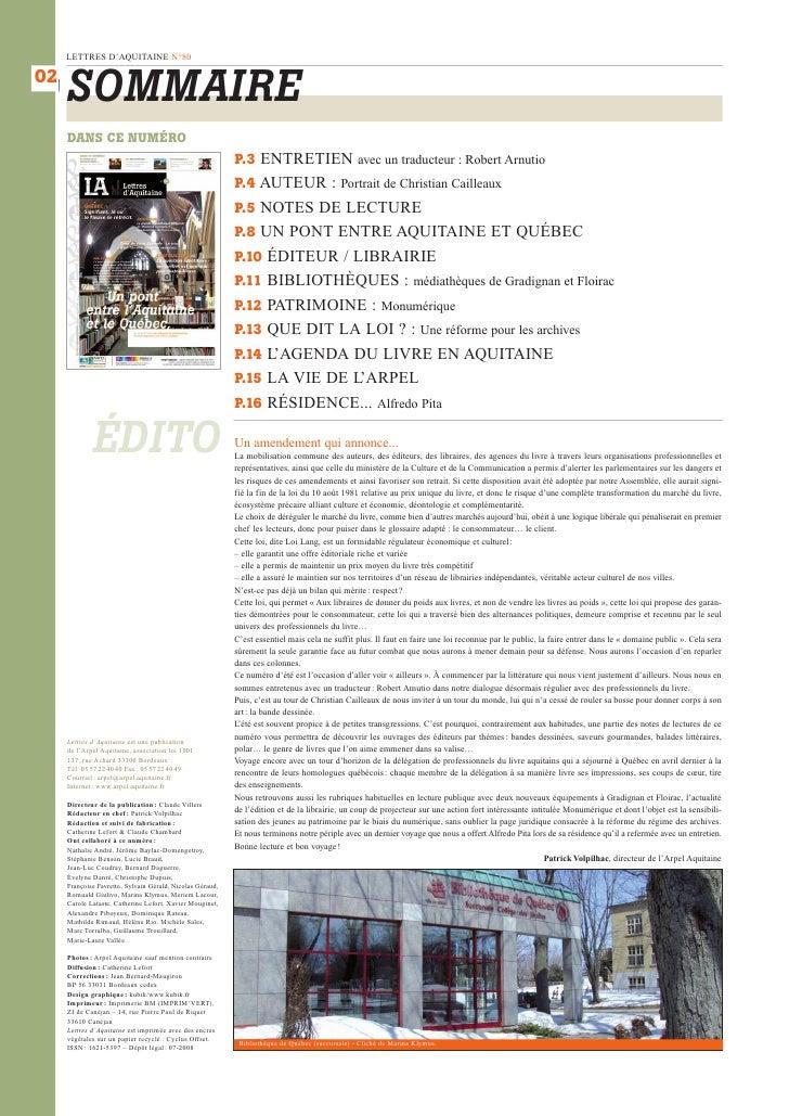 Lettres d'Aquitaine Slide 2