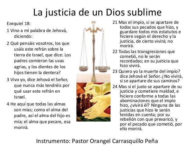La Justicia De Un Dios Sublime