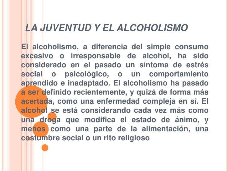 La reconstitución del organismo después del alcoholismo las etapas