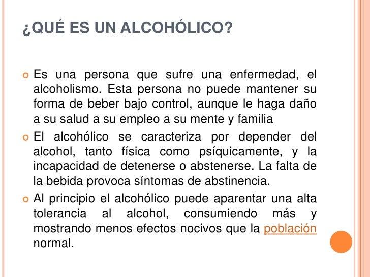Que sustituir el alcohol al alcoholismo