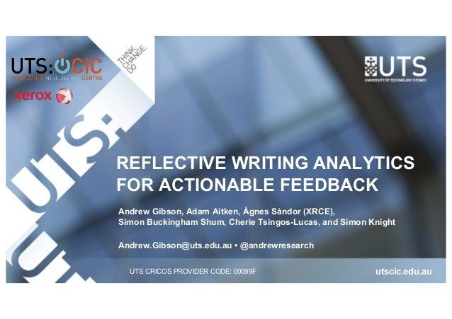 narrative descriptive and reflective refer to three