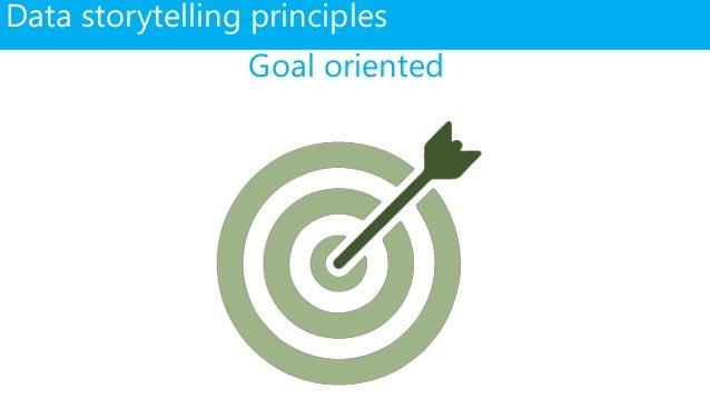 Data storytelling principles Goal oriented